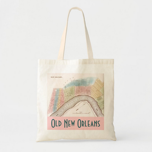 Old New Orleans Canvas Tote