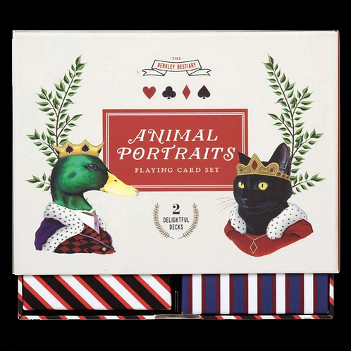 Berkley Bestiary Animal Portraits Playing Cards