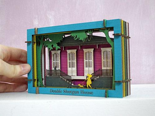 Double Shotgun House Tunnel Book