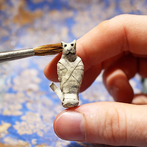 Miniature DIY Kit --- Cat Mummy