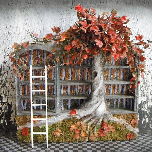 Miniature Fall Blossoms Bookshelf