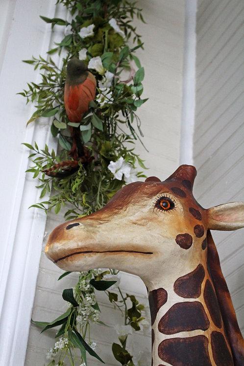 Faux Trophy Giraffe Mount