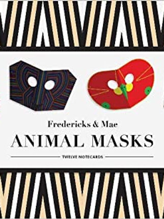 Frederick & Mae Animal Mask Notecards