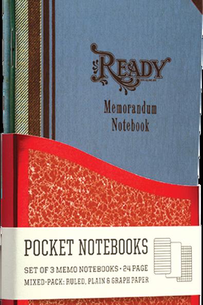 3 Vintage Memorandum Notebooks