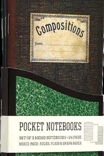 3 Vintage Composition Notebooks