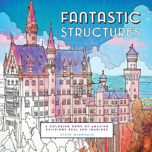 Fantastic Structures Coloring Book