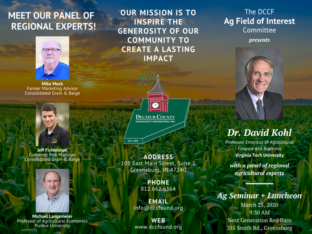 Coming Up: Ag Seminar + Luncheon