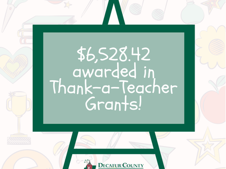 Spring Thank-a-Teacher Grants Awarded