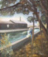 大賞 「陽光の中の運河」 F20油彩画/藤田文雄