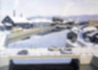 半田市議会議長賞 「運河 春の雪」 P30油彩画/水野元重
