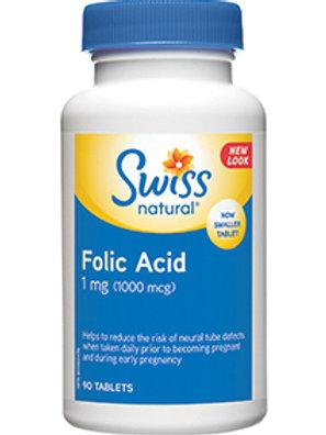 Folic Acid 1 mg (1000 mcg)