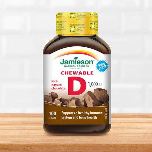Chewable vitamin D 1,000 IU
