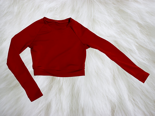 Work It Out! LS Crop Top