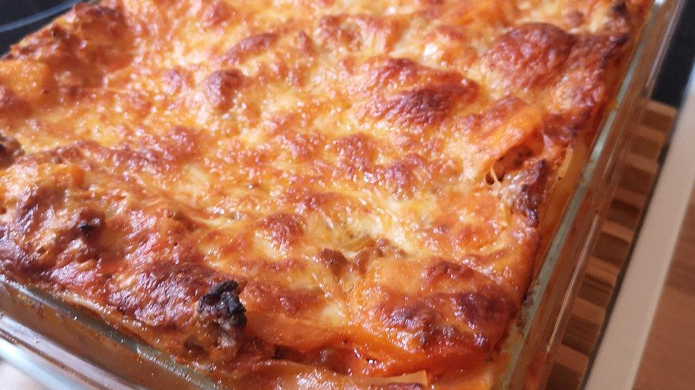 Süßkartoffelhack Lasagne