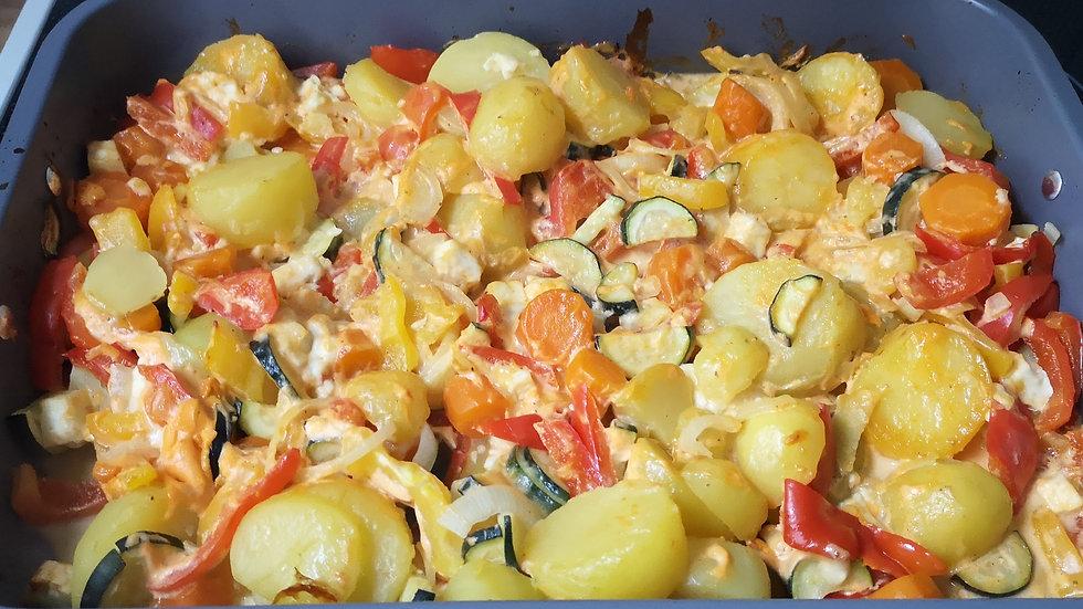 Kartoffelgemüseauflauf