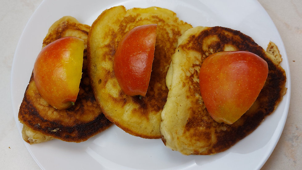 Apfel Buttermilch Pancakes