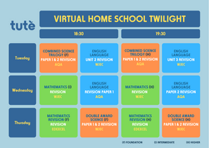 Virtual Home School Twilight timetable (
