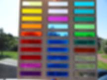 kleuren glasfolie palet