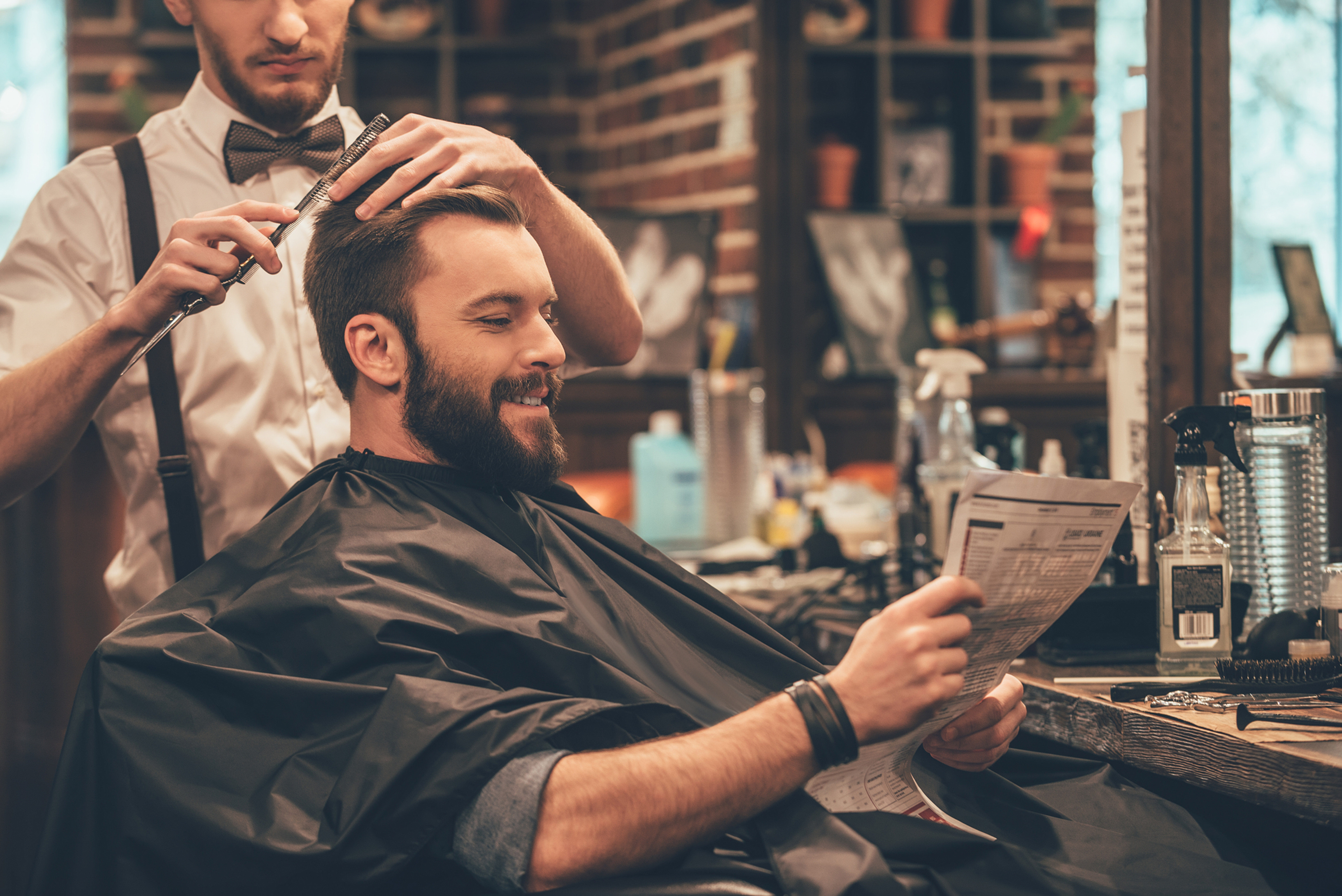 Coupe Hommes +  Barbe longue