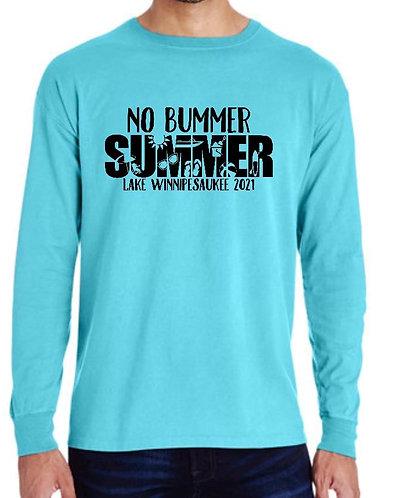 No Bummer Summer Long Sleeve Pigment Dyed
