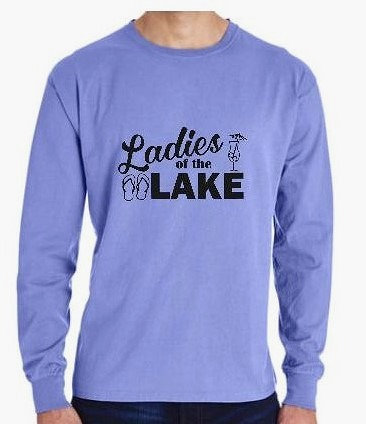 Ladies of the Lake Pigment Dyed Long Sleeve Tshirt