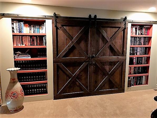 Sliding doors and sunken shelves