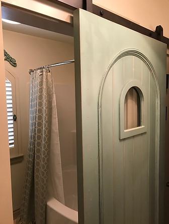 Barn door bath
