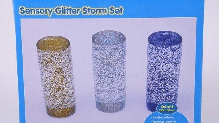 Sensory Glitter Storm Set - Pk3