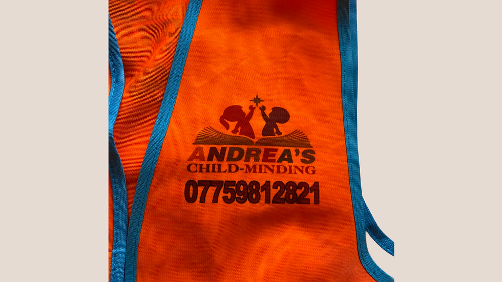 Red high viz best 2 -3 year years one size fits all