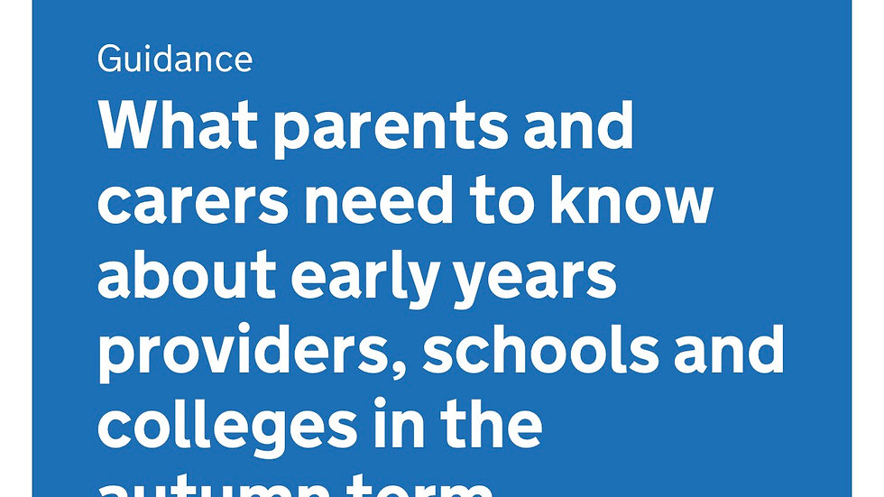 What parents need to know about early years, schools and colleges