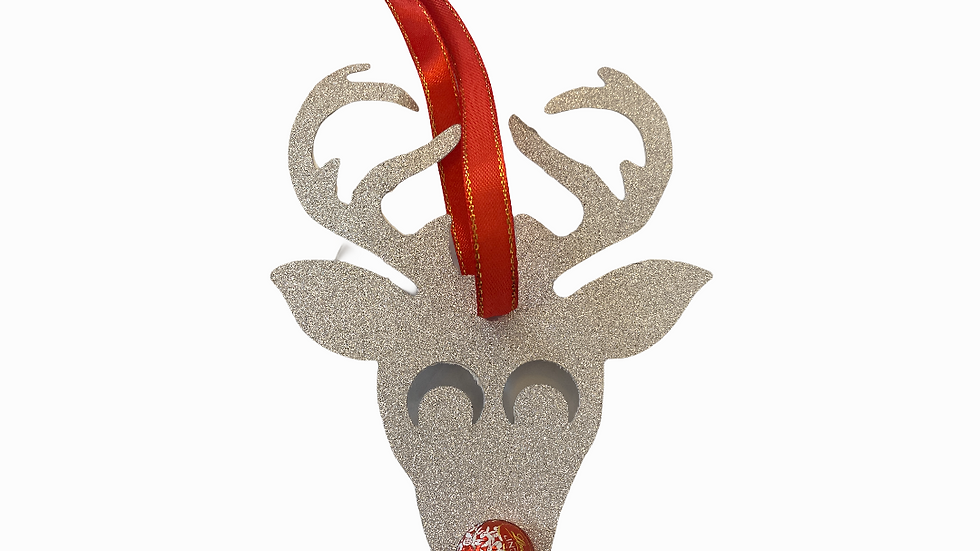Reindeer tree chocolate decoration