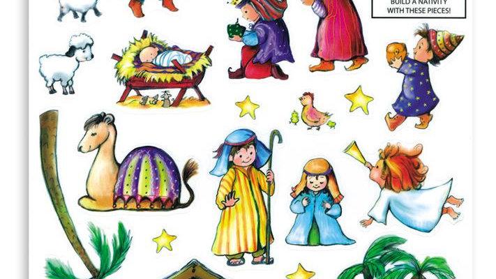 Nativity Scene Window Stickers