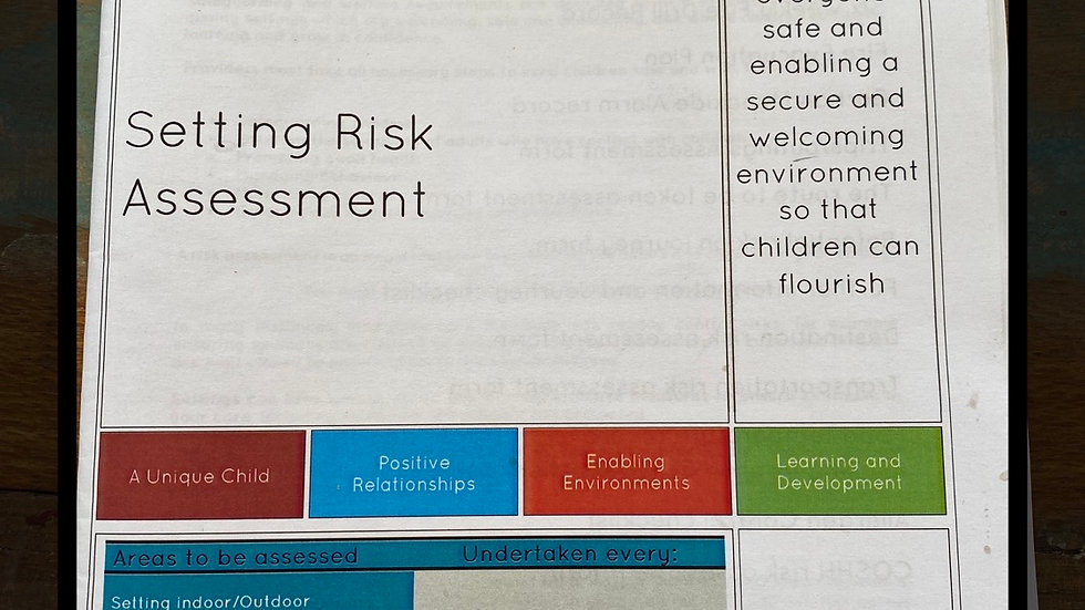 A5 Risk Assessment Booklet inc. COViD