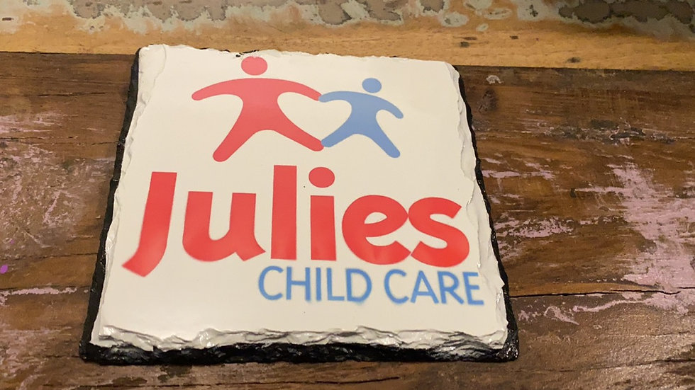 Personalised slate Childcare Signs indoor/Outdoor