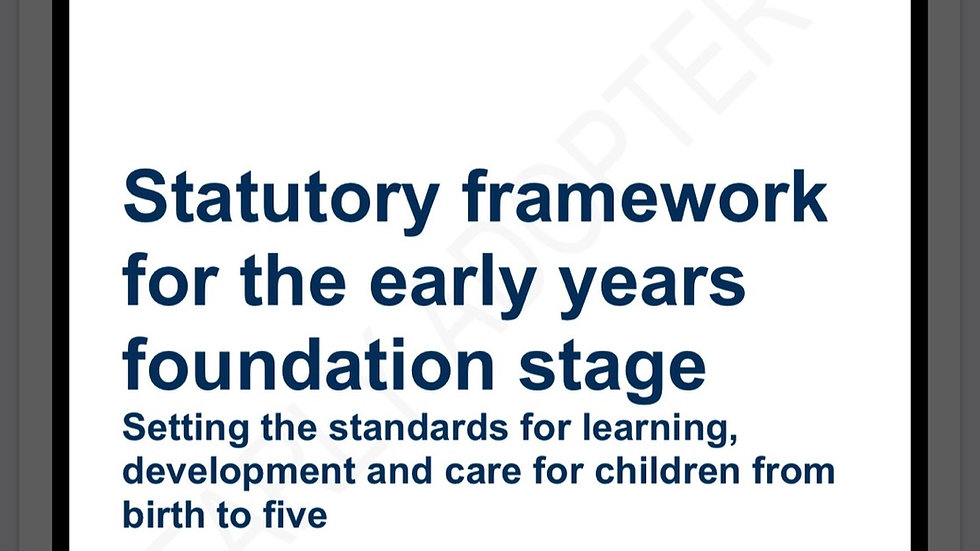 EYFS September 2020/21 (Early adopter) A4 Bound
