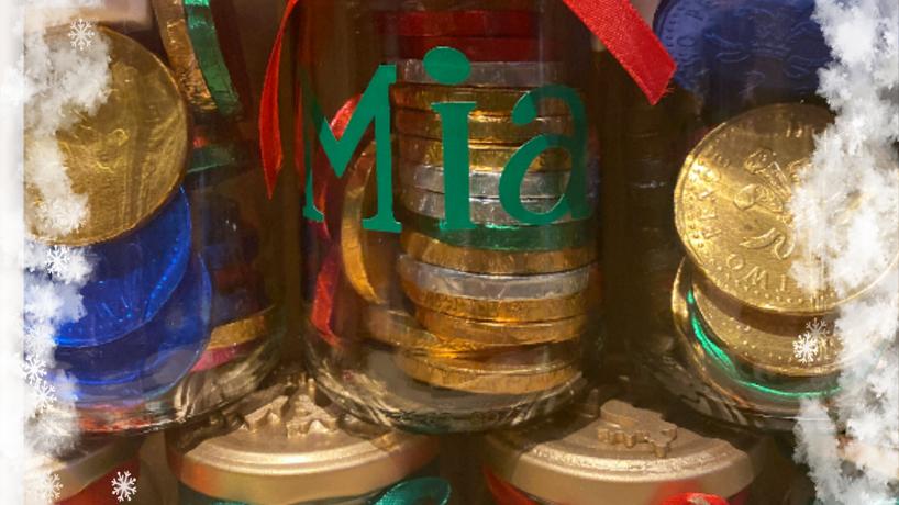 Personalised  Trinket Jar filled with chocolates