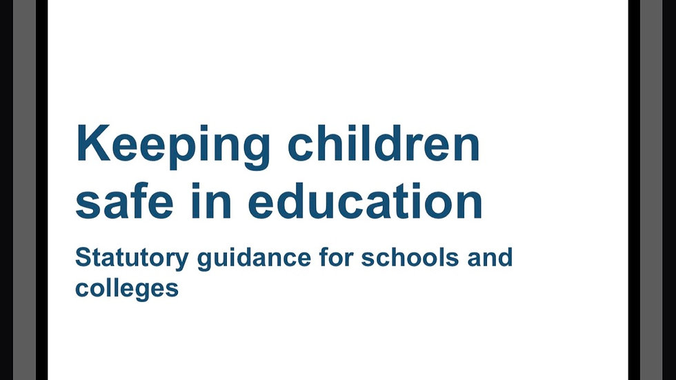 Keeping children safe in education updated guidance