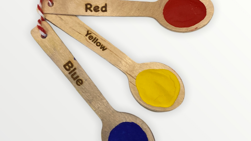 Primary Colours - Paint Spoons