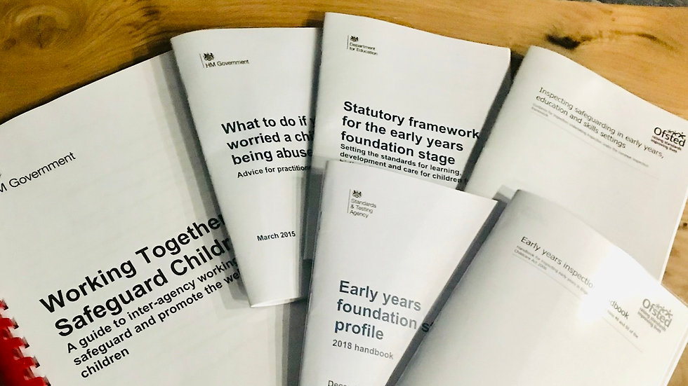 Statutory EYFS and Non statutory Booklets