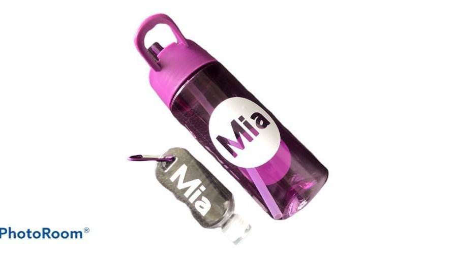 Back to school personalised Bottle and Antibac key chain