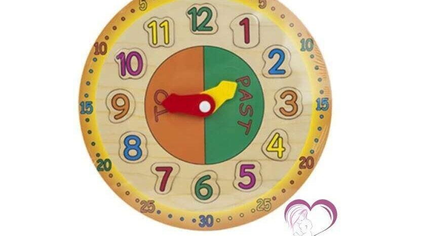 Wooden Time Teaching Clock