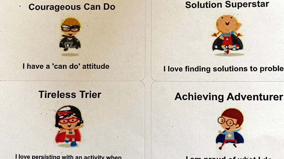 Characteristics of  Effective Learning Super Hero stickers