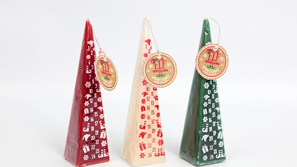 20cm Elf Advent Candle