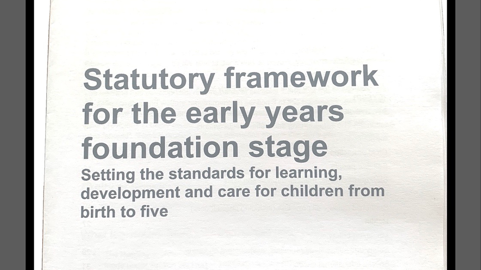 Statutory Framework for the EYFS 2017