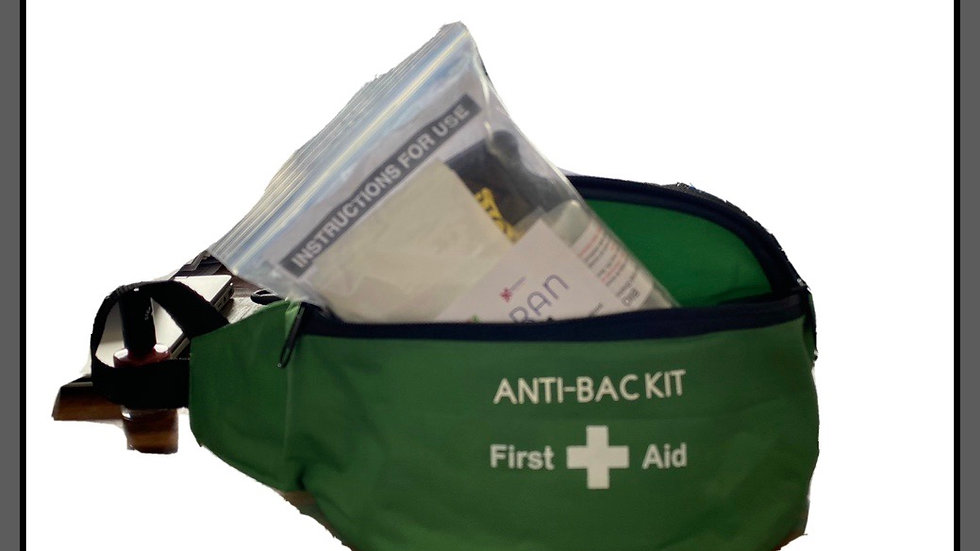 Bio hazard Spill kit in a Bum bag (single use)