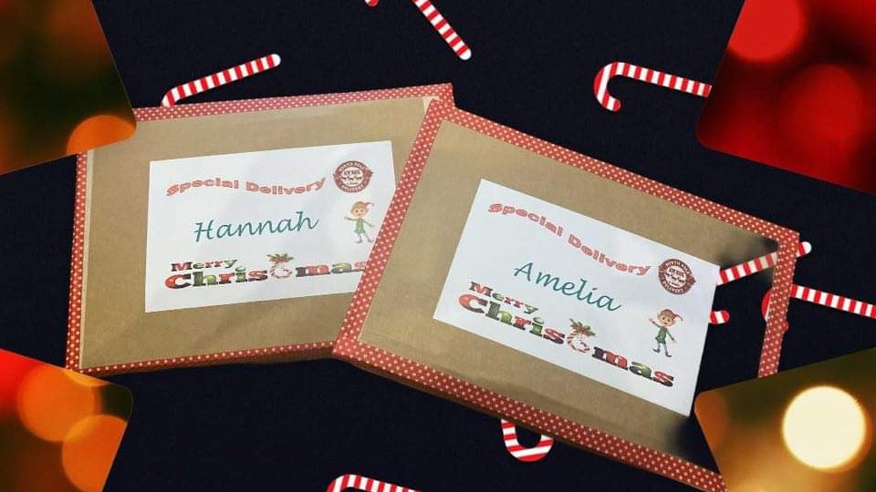 C4 size Personalised children Christmas Letterbox surprise