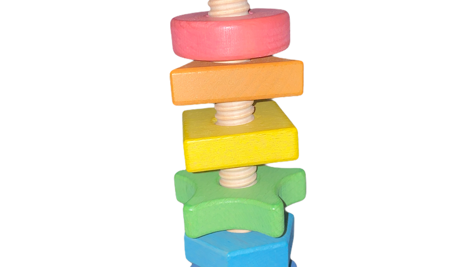 TickiT® Rainbow Wooden Shape Twister