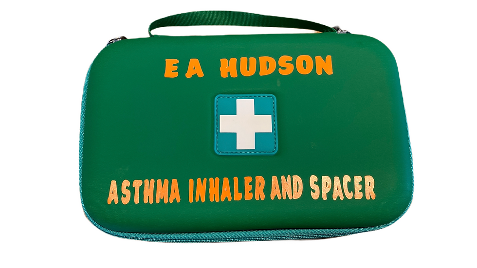 Adults/Children's Inhaler and Spacer personalised  Bag