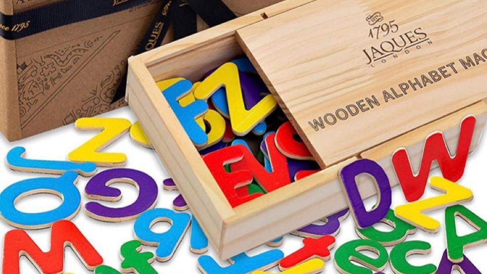 WOODEN Magnetic Alphabet Letters