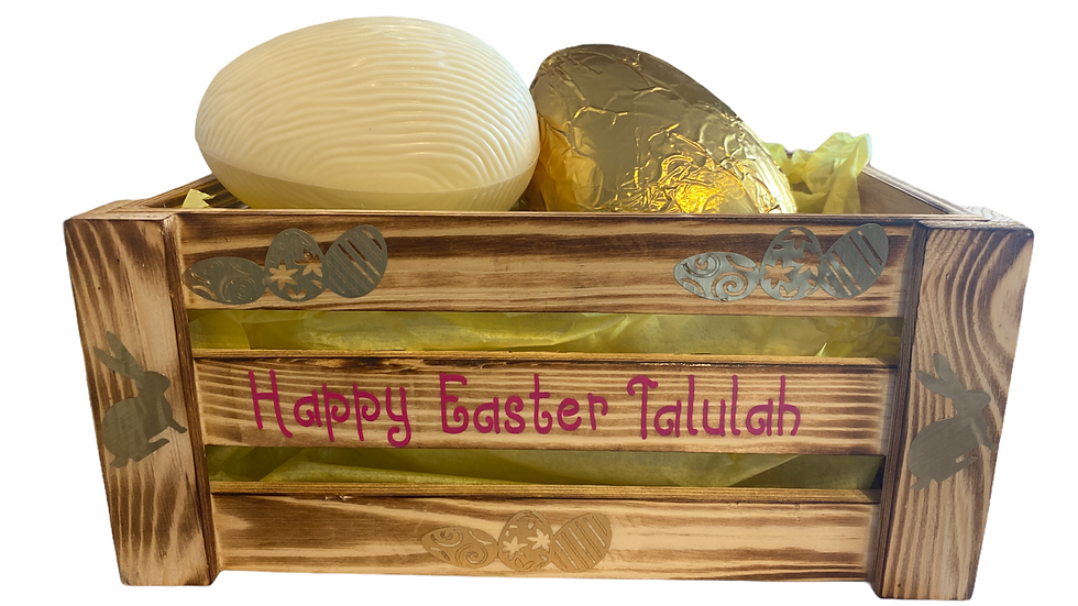 Easter wooden Crate Boxes - Personalised